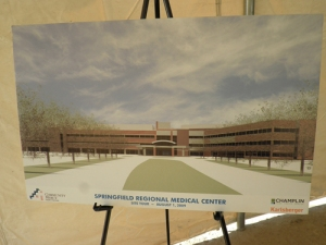 Rendering of new hospital